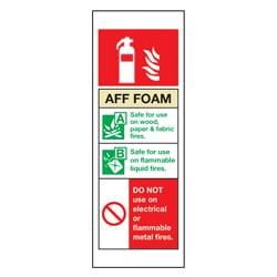 Aff Foam Fire Extinguisher Information Sign