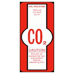 CO2 Release Caution Sign