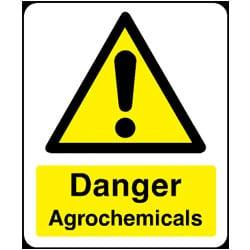 Danger Agrochemicals Sign