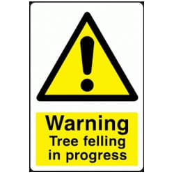 Warning Signs - Tree Felling In Progress