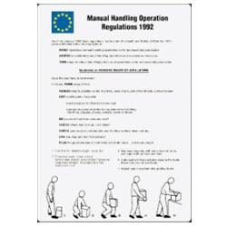Manual Handling Operation Regulations 1992 Sign