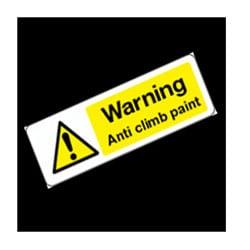 Anti Climb Paint Warning Sign
