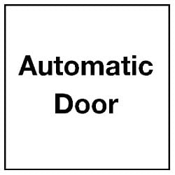 Automatic Door Sticker