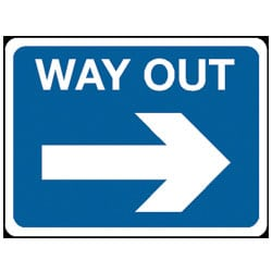 Way Out Traffic Sign