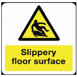 Slippery Floor Surface Sign