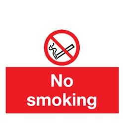 No Smoking Self Adhesive Sign