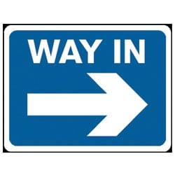 Way In Traffic Sign