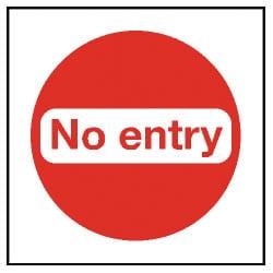 No Entry Sticker