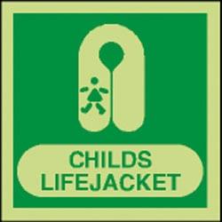 Childs Lifejacket Sign