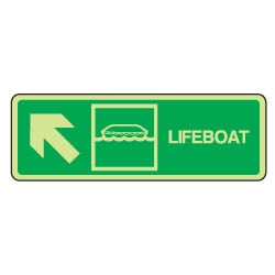Lifeboat Arrow Left Up Sign
