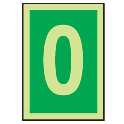 0 Luminous Number Sign