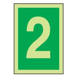 2 Luminous Number Sign