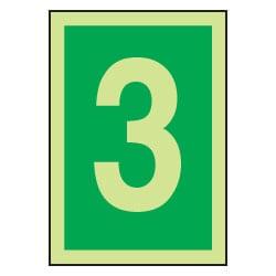 3 Luminous Number Sign