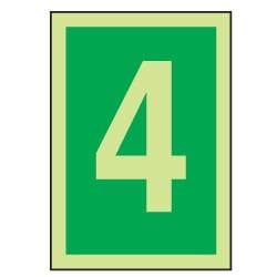 4 Luminous Number Sign