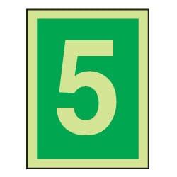 5 Luminous Number Sign