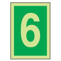 6 Luminous Number Sign