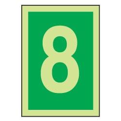 8 Luminous Number Sign