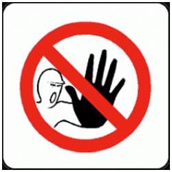 No Access Symbol Pictorial Sign