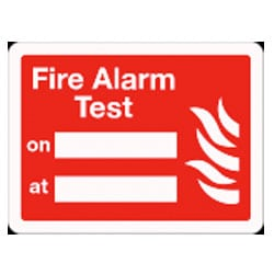 Fire Alarm Test Sign