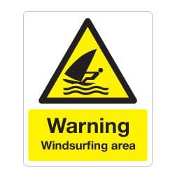 Warning Windsurfing Area Sign