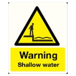 Warning shallow water Sign