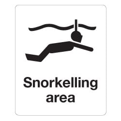 Snorkelling area Sign
