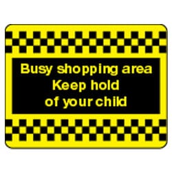 Busy shopping area Sign