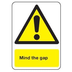 Mind The Gap Sign