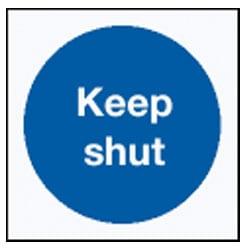 Keep Shut Door Sign