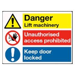 Danger Lift machinery ... Multi Sign