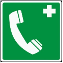 Emergency Telephone Pictorial Sign