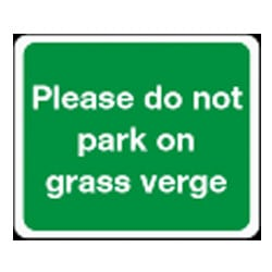 Please do not park on grass verge sign