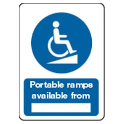 Portable ramps available from *BLANK* Sign
