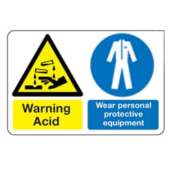 Acid Wear personal protective equipment sign