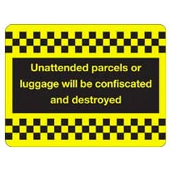 Unattended Luggage Sign