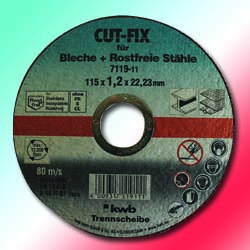 Flat Centre Metal Cutting Disc - 7119-11