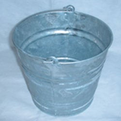 9 Litre Galvanised Bucket