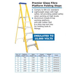 Premier Glass Fibre Platform Folding Steps