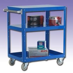 Tray Trolley - 3 Shelves - Load Capacity 150kg