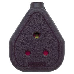 Single Trailing Socket - Black - Round Pin