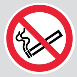 No Smoking Double Sided Adhesive Sticker