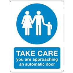 Take care you are approaching an automatic door Sticker