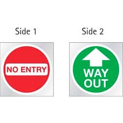 No Entry / Way Out Sticker