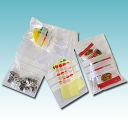Resealable Clear Bags with Write-on Panel