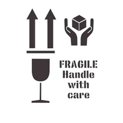 Fragile Handle with Care Stencil