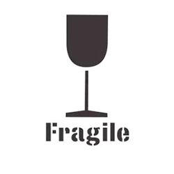 Fragile Stencil with Symbol