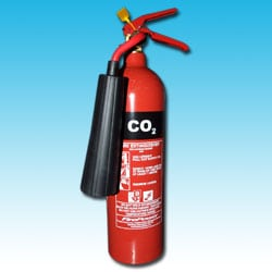 CO2 fire extinguisher with hose and horn 2kg