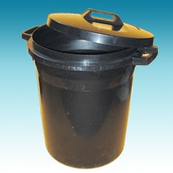 Black Heavy Duty Dustbin - 94 Litre
