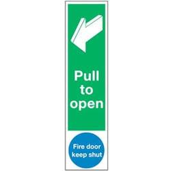Door Push Plates - Pull to open and Fire door keep shut