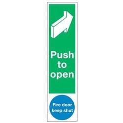 Door Push Plates - Push to open and Fire door keep shut